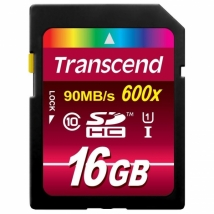 Transcend SD CARD SDHC Class 10 UHS-I 600x 16GB