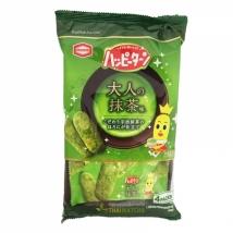 KamedaSeika Rice Crispy green tea taste ขนมข้าวอบกรอบ รสชาเขียว อร่อย กรอบ หวานรสชาเขียวเต็มคำ