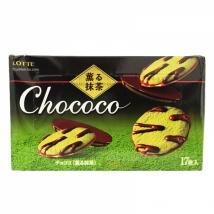 Lotte Chokoko ขนมคุกกี้ชาเขียว สอดใส้ รสชอคโกแลต