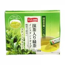 ชาเขียวผง ผสมมัทฉะ StyleONE Matcha Greentea Stick ชนิดพกพา 30 ซอง