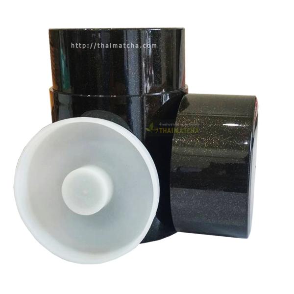 กระปุกใส่ชาเขียว สไตล์ญี่ปุ่นสีเขียวเมทัลลิก Tea Canister,Dark green