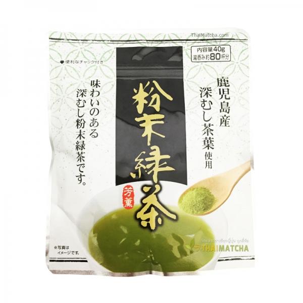 ชาเขียวผง ฟุกะมุชิ จาก Kagoshima greentea power