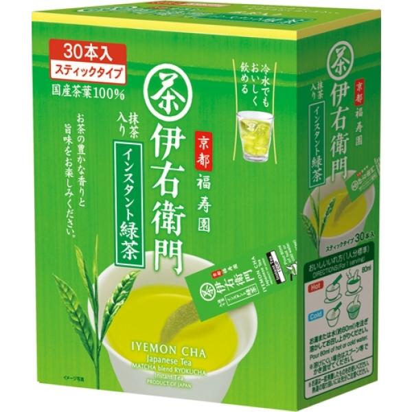 IEMON Green tea ชาเขียวผง ผสมมัทฉะจากอุจิ ชนิดพกพา stick 30 ซอง