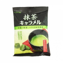 Lotte Matcha Caramel (bag) ลูกอมชาเขียว รสหวานอร่อย เข้มข้นรสชาเขียว