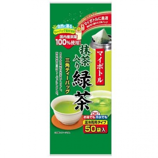 ชาเขียวอุจิมัทฉะ  ชนิดถุง tea bag บรรจุ 50 ซอง