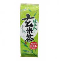 ชาเขียวข้าวคั่ว ผสมมัทฉะ ทำจากใบชาในญี่ปุ่นคัดอย่างดี100%