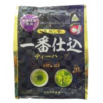 ชาเขียว ฟุกะมุชิ ซองปิรามิด ผสมอุจิมัทฉะ ชงร้อน-เย็นได้