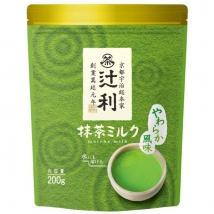 ชาเขียวมัทฉะลาเต้ tsujiri matcha milk ชนิดผง รสชาติหอมนุ่มละไม ซองใหญ่ 200g