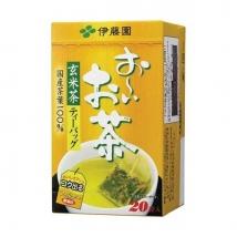 ชาเขียวข้าวคั่ว ชนิดซองย่อย tea bag บรรจุ 20 ถุง
