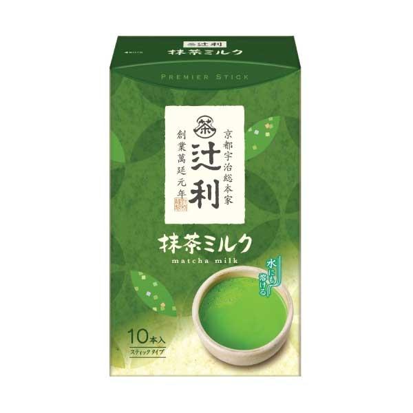 Tsujiri Matcha latte ชาเขียวนมลาเต้ ชนิดซองพกพา พร้อมดื่ม stick 10 ซอง