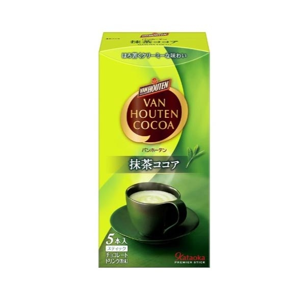 Van Houten Matcha Cocoa 5 sticks ชาเขียวมัทฉะผสมโกโก้เข้ากันอย่างดี รสชาติกลมกล่อม อร่อยมาก