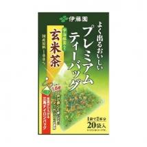 ชาเขียวข้าวคั่ว พรีเมี่ยม กล่องสีทอง ซองปิรามิด  ITOEN Premium Genmaicha Green Tea