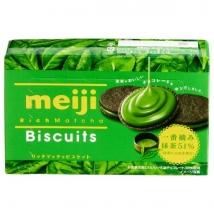 Meiji Rice Matcha บิสกิตช็อคโกแลตสอดใส้ครีมชาเขียวมัทฉะเข้มข้น 51%