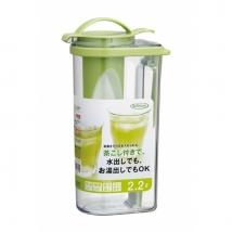 Iwasaki เหยือกกรองชาสำหรับน้ำเย็น วางได้ทั้งแนวตั้งและแนวนอน ขนาด 2.2 ลิตร K-1297MC
