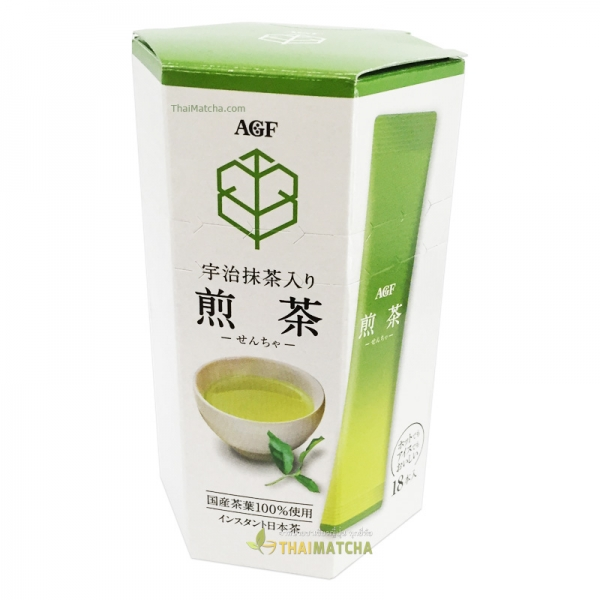 AGF Uji Green Tea Stick อุจิมัทฉะ ชนิดซอง บรรจุ 18 ซองเล็ก